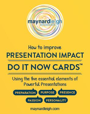 Presentation Impact - Do It Now Action Cards